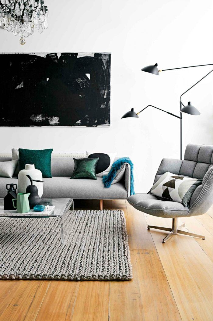 Bequeme Sessel Wohnideen Wohnzimmer Hellgrauer Teppich