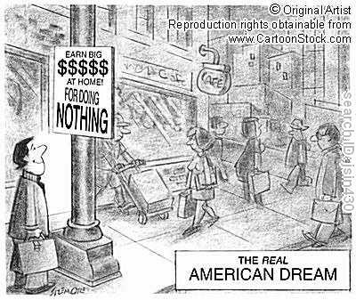 How does the notion of the American Dream influence the U.S. economy?