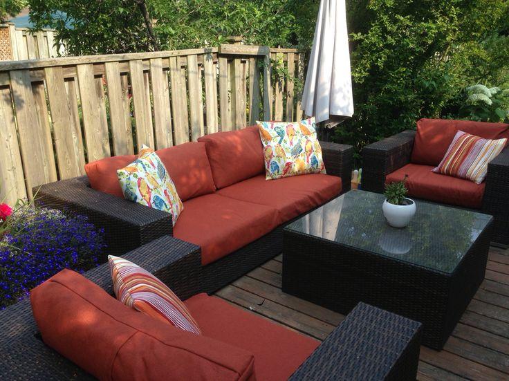 DIY outdoor patio slip overs