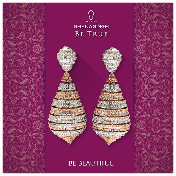 Beautiful and graceful, varied and enchanting - this is how we describe this beautiful #earring, how would you describe it?
