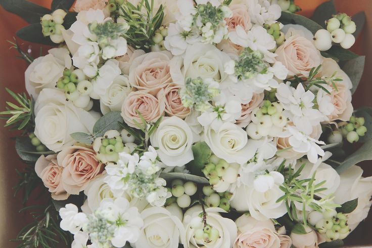 Stunning bouquet from my gorgeous sister @devine_rachel s wedding - read all about it on my latest post #flowerfriday #happyfriday #weddingflowers #colourinspiration #roses #stock #snowberry #eucalyptus #rosemary #londonblogger #weddingblog #weddingblogger www.devinebride.co.uk