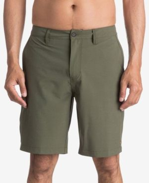 Quiksilver Waterman Men's Vagabond Flat-Front Shorts - Green 33