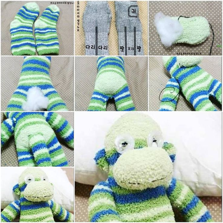 How to make Sock Monkey Terry step by step DIY tutorial instructions, How to, how to make, step by step, picture tutorials, diy instructions, craft, do it yourself