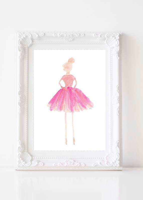 Ballerina Art Print, 5x7 Ballerina Art, Dancer, Ballet, Ballet Class, Ballet Tutu, Ballet Teacher Gift, Ballet Nursery, Ballerina Decor