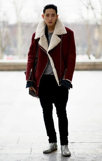 This coat is pretty major. And check out the boots.  #menswear #fashion #streetstyle