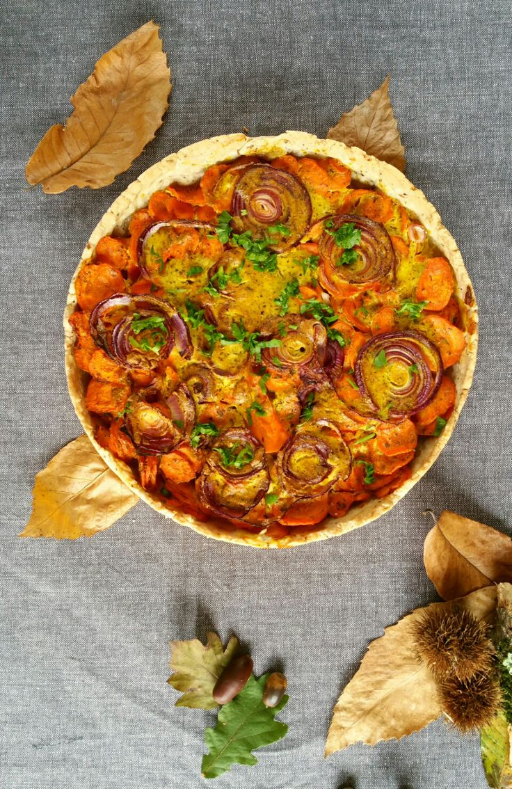 Tarte épicée aux carottes (vegan)