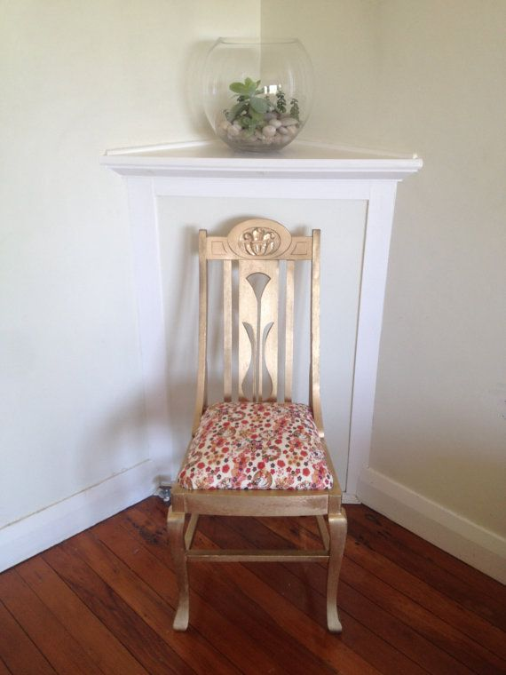 Glamorous & Gold Boudoir Chair in Cherry by ButterflybyTina, $300.00