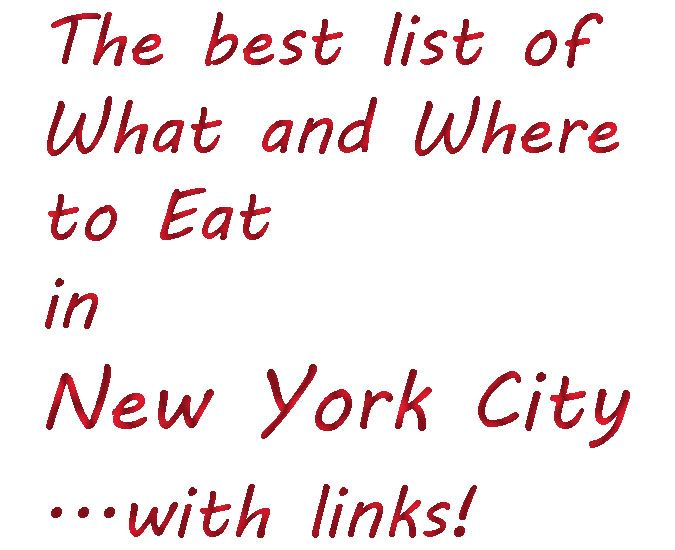 To eat in new york city a long list of the most recommend places