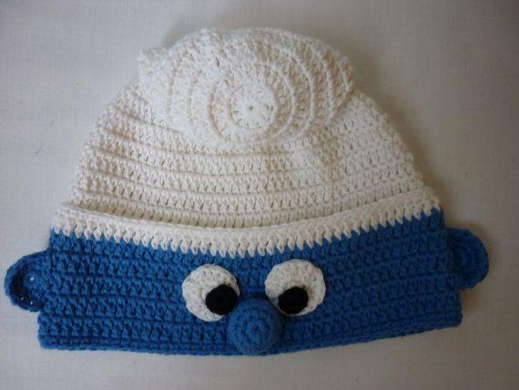 Smurf hat crochet baby hat crochet children hat crochet by Anishop,       ♪ ♪ ... #inspiration_crochet #diy GB http://www.pinterest.com/gigibrazil/boards/