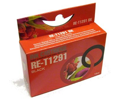 RE-T1291 BK Compatible Ink Cartridge for Epson Black T1291