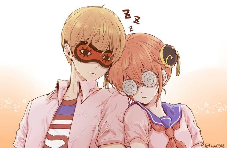 Anime,аниме,Gintama,Гинтама,Kagura,Okita Sougo