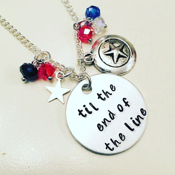 Til the End of the Line Stucky Bucky Barnes Winter Soldier & Captain America Steve Rogers Charm Necklace - GeekGalaxyDesigns