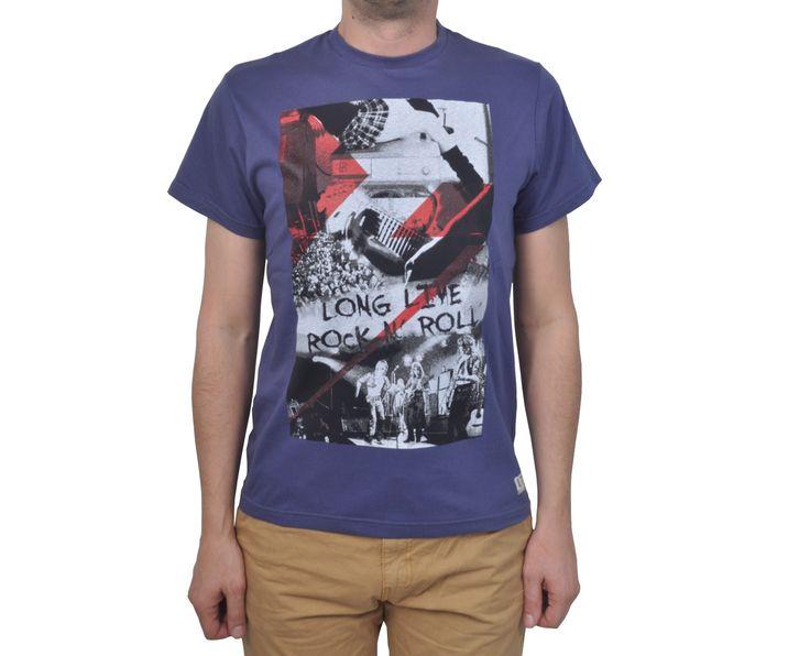 """Ανδρική Μπλούζα T-Shirt """"Anflex"""" Μπλε Χρώμα 100% Βαμβάκι"""