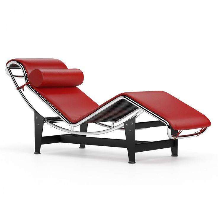 Lc4 Chaise Longue Red Meridienne Chaise Longue Design Chaise Longue
