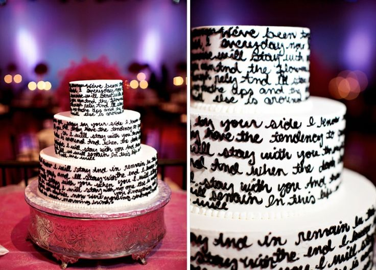 Amazing cake- lyrics from the couple's first dance song: Stay with you by John Legend