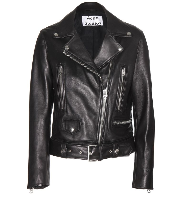 Looking for a new black leather jacket for fall and are willing to splurge? If so, this is the one for you! Black Acne Studios Leather Motorcycle Jacket; mytheresa.com