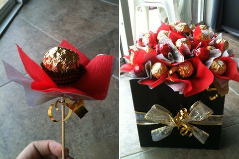 is there any other ways to secure the chocolate instead of using the skewer to poke in it?