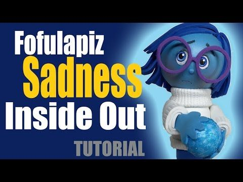Fofucha Fofulapiz Tristeza Intensamente - Sadness fofupencil Inside out - YouTube