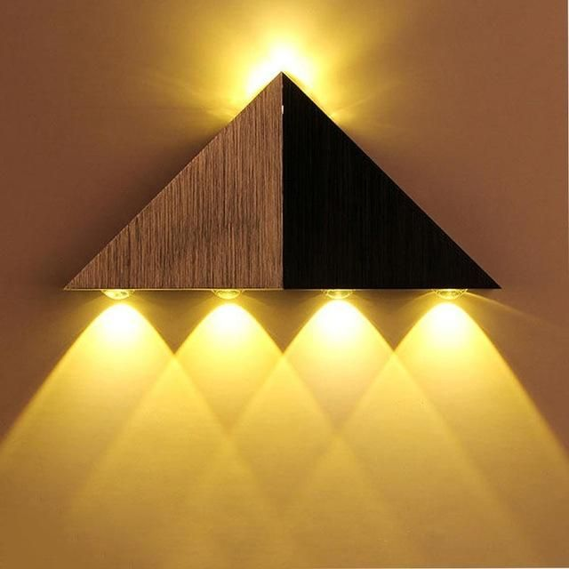 Simple Modern Triangle Wall Decoration Led Lights Modern Wall Lamp Lights Decoration In A Stylish Yet Simple Way Comes Led Wall Lights Wall Lamp Led Wall Lamp