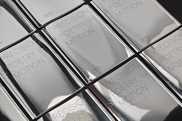 Mirror covers featuring foiled and blind embossed typography