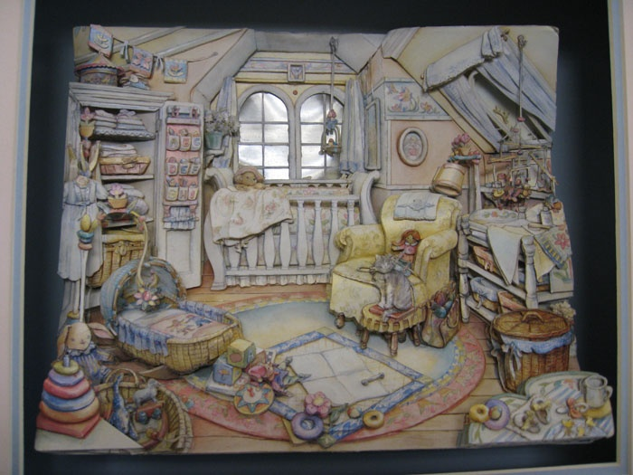 I love this paper toled baby's room.