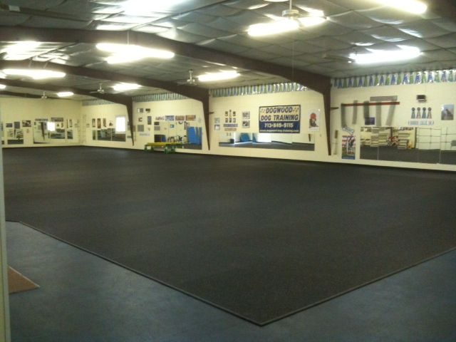 Dogwood Dog Training Installed Rolled Rubber In Their
