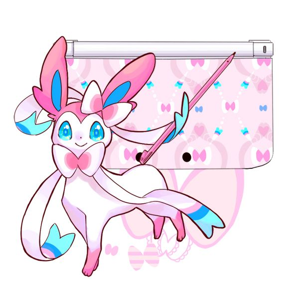 No Larger Size Available Biology Sylveon Is A Quadruped Mammalian Pokemon Covered Primarily In Pale Cream Colored Fur With Pinkish F