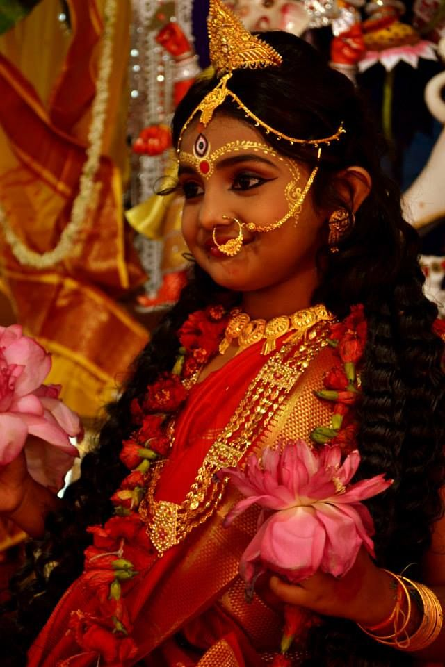 Kumari, the Goddess as a child, Durga Puja 2014, photo from Halley Goswami and friens Durga pujo Kolkata