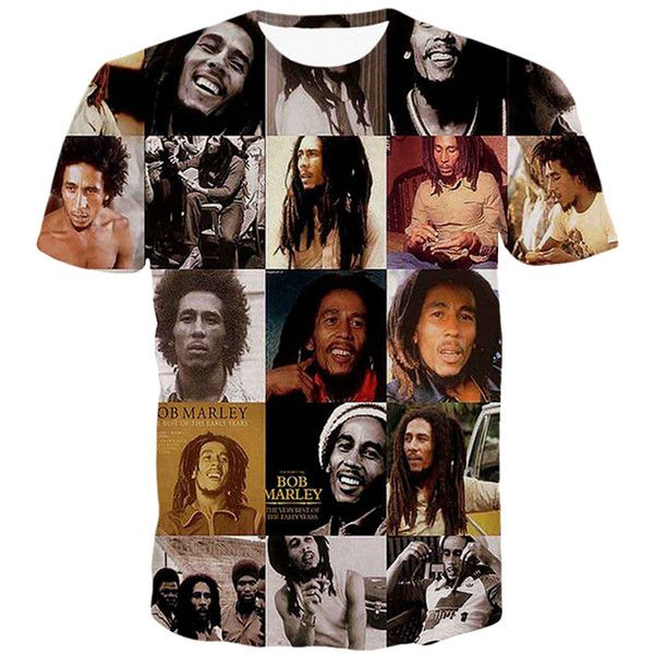 Black Crew Neck Bob Marley Printed Casual Womens T Shirt ($10) ❤ liked on Polyvore featuring tops, t-shirts, black, crew top, crew-neck tee, crewneck t shirt, crew neck tee and bob marley tee
