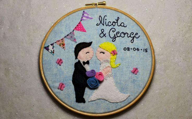 Embroidery Hoop - Wedding Gift http://kateskraftblog.blogspot.co.uk