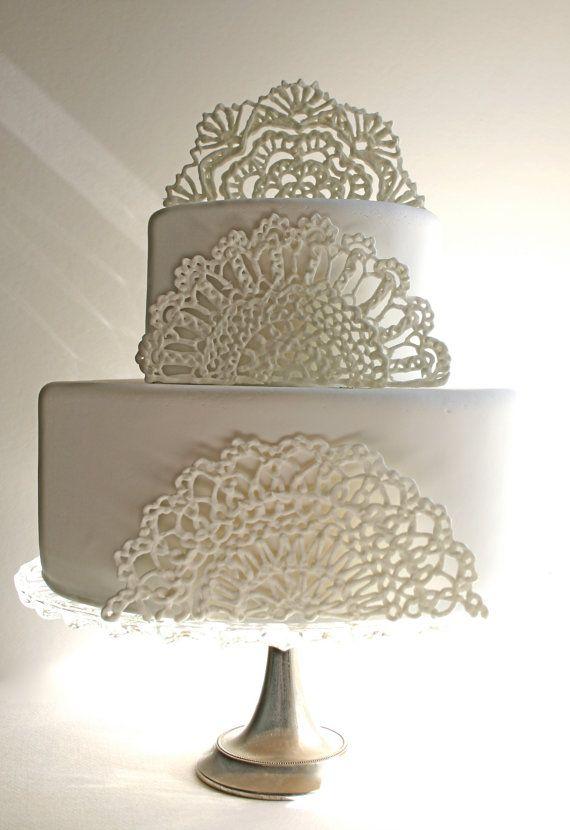 Sugar Doilies, Sugar Lace, Edible Cake Embellishments