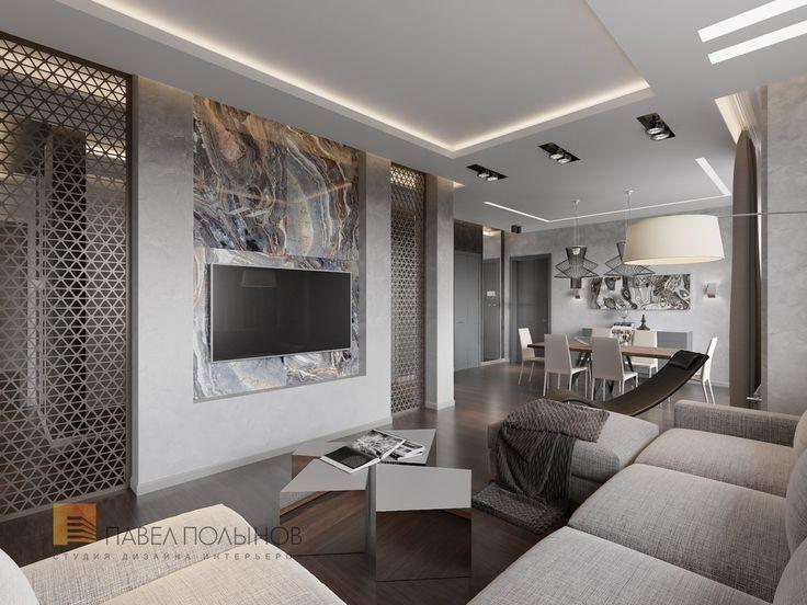 Гостиная в стиле минимализм   Пятикомнатная квартира в стиле минимализм, ЖК  «Классика»,. False Ceiling DesignTv CabinetsTv UnitsTv ...