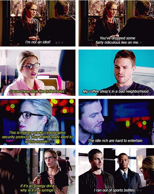 Arrow - Oliver Queen & Felicity Smoak ~ her character's the reason I watch the show