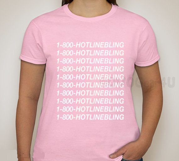 1 800 HOTLINE BLING SHIRT Drake Shirt Hotline bling by MOMOGEAR4U