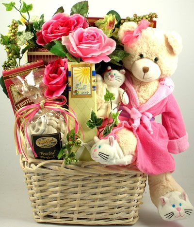 Teddy Bear Get Well Wishes | Fun Get Well Gift Basket with Gourmet Snacks