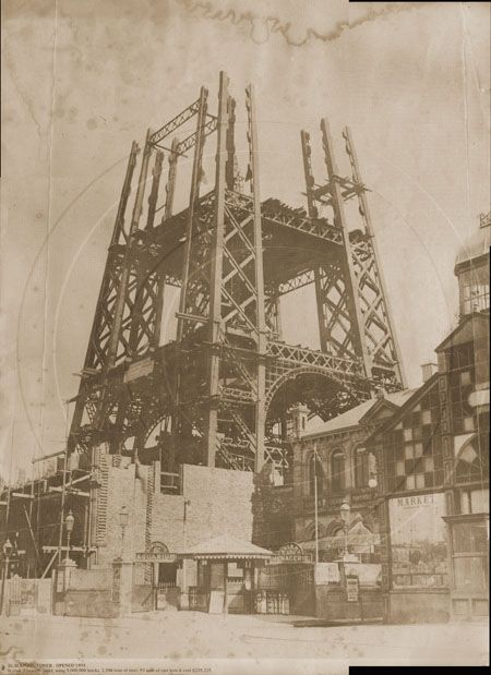 Blackpool Tower under construction in 1893.
