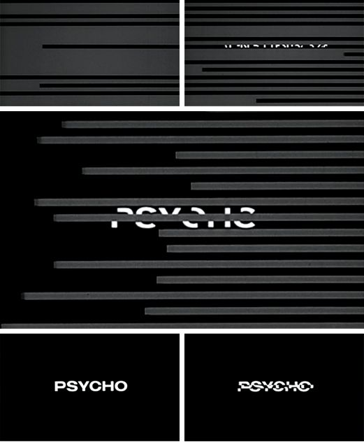 Way ahead of its time. The dynamic 'Psycho' title sequence by Saul Bass.
