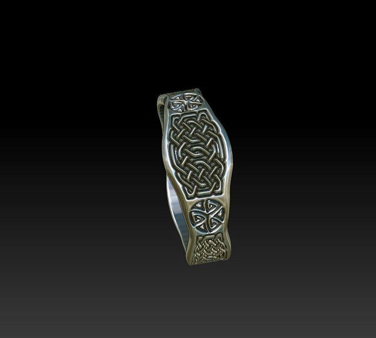 signet ring celtic ring celtic band wedding band wedding ring   ladies signet ring mens signet ring TR15 by BonzerJewelry on Etsy