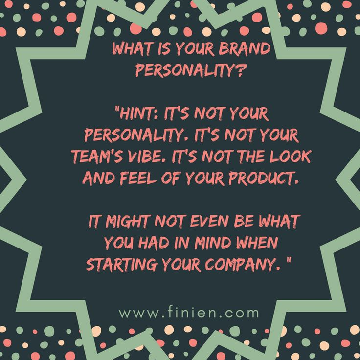 Finien on what brand personality isn't...#branding #brandpersonality