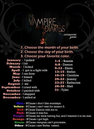 The Vampire Diaries. I cried with Damon, because vampires can't procreate. Dead on!