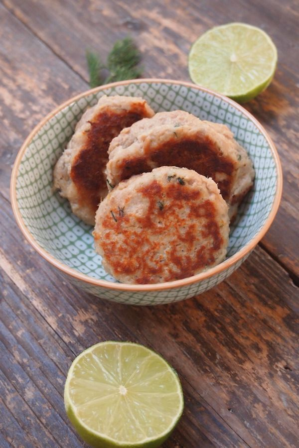 Croquette de thon citron et aneth...recette à faire au four pour que ce soit encore plus léger!!!