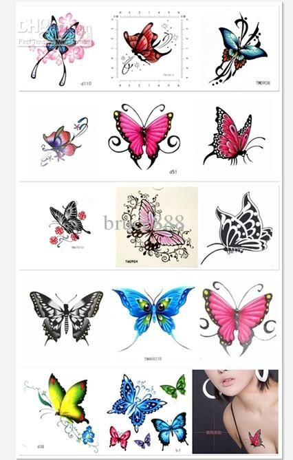 Wholesale temporary tattoos buy sexy women butterfly for Wholesale temporary tattoos