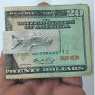 Money Clip, Gift For Him, Silver Money Clip, Fish, Men's Gifts