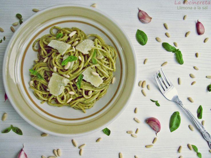 Llimona a la Sal: Espaguetis al pesto