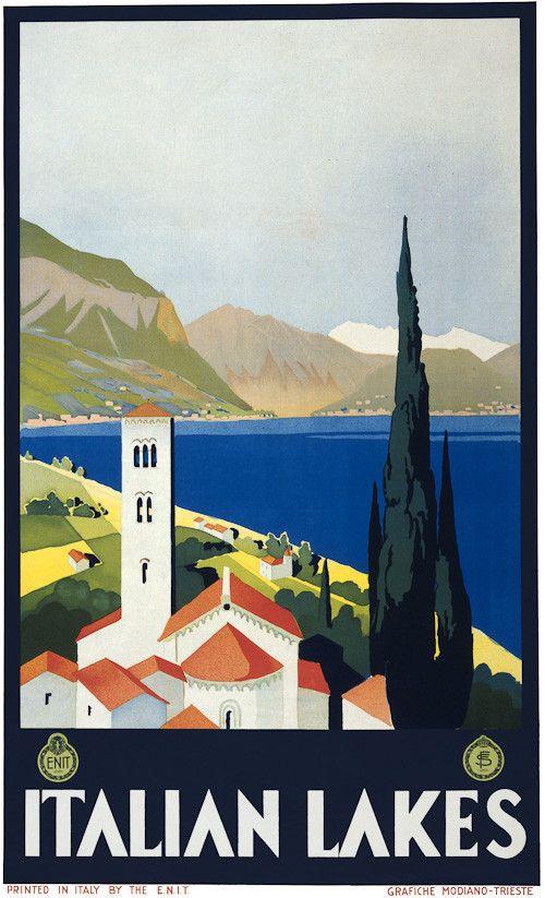 Vintage Travel Poster | Italian Lakes