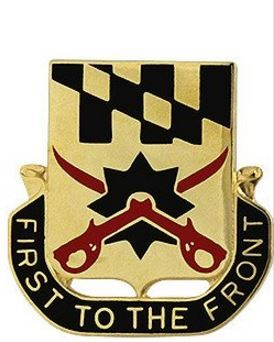 158th Cavalry Regiment Unit Crest (First to the Front)