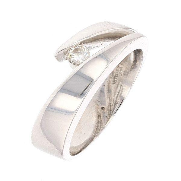 Contemporaine En Blanc Diamant Bague 15 Carat Signée 0 Or Garel CdBotrsxhQ