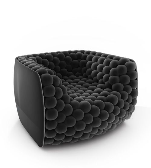 'Blueberry' chair by Carlo Colombo for Byografia