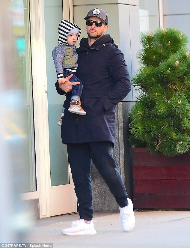 Cutie! As the mother-of-one hit the town with her gal pals, husband Justin Timberlake, 35, was spotted spending some quality time with the couple's adorable baby son Silas, 19 months