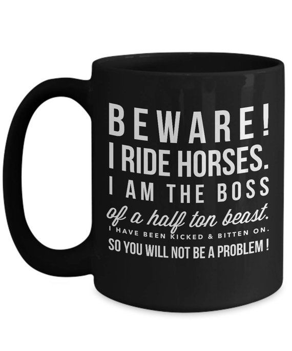 Horse Gifts Ideas Funny Coffee Mug Personalized Best Unique Equestrian Lover Owner Cowgirl Cups Present